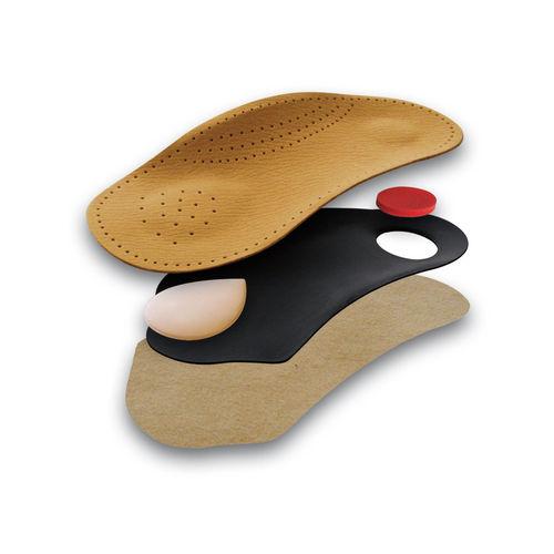 Tacco Deluxe anatomisches Leder-Fußbett, Ledereinlagen braun, aus ökologisch veredeltem Schafleder (40)