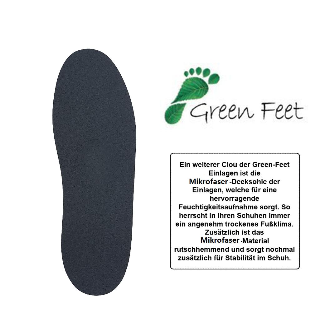 GreenFeet Thin orthopädische Barfuß Schuheinlagen
