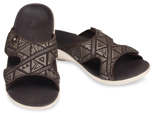 Spenco Tribal Slide Slip-in Sandalen Herren Coffee Bean